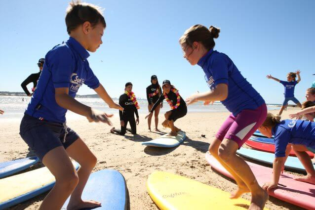 Learn to Surf with Surf Easy Surf chool at Currumbin Alley