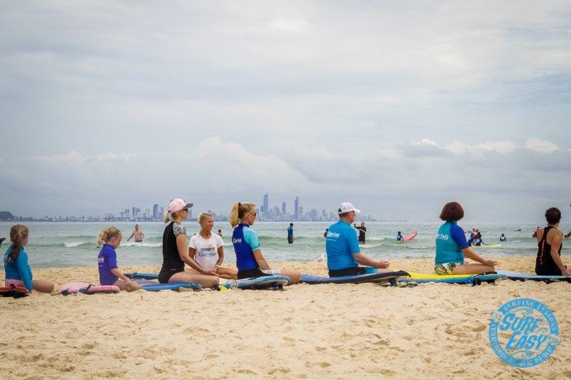Learn to Surf Currumbin Alley Surf Easy Surf School Gold Coast yoga zen beach